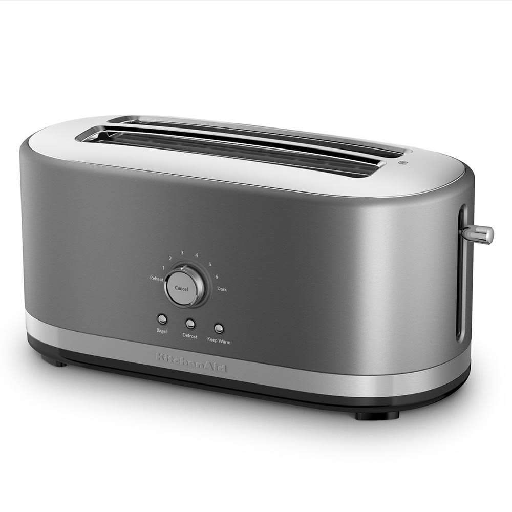 Kitchenaid Kmt4116cu 4 Slice Toaster W Manual High Lift Lever Long Slots Contour Silver