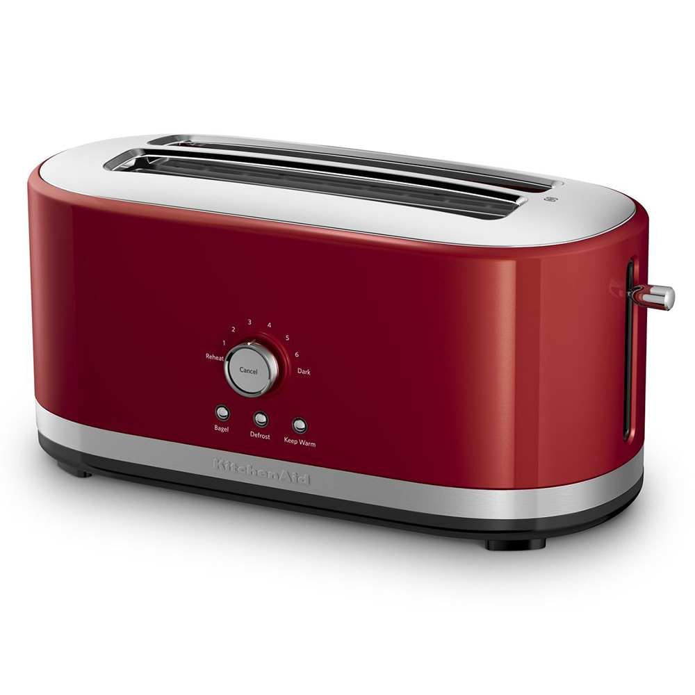 KitchenAid KMT4116ER 4-Slice Toaster w/ Manual High-Lift Lever, Long Slots, Empire Red