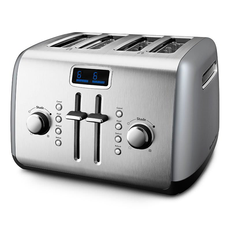 KitchenAid KMT422CU 4-Slice Manual Lever Toaster - Contour Silver