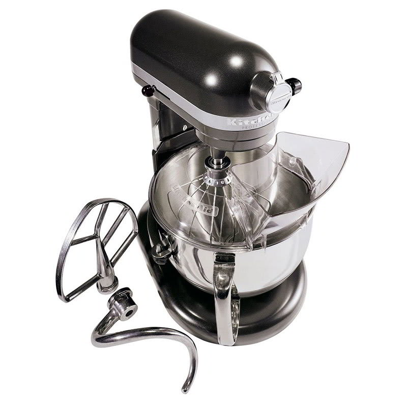 KitchenAid KP26M1XDP Professional 600 Series Mixer With Pouring Shield, 6 Qt, Dark Pewter