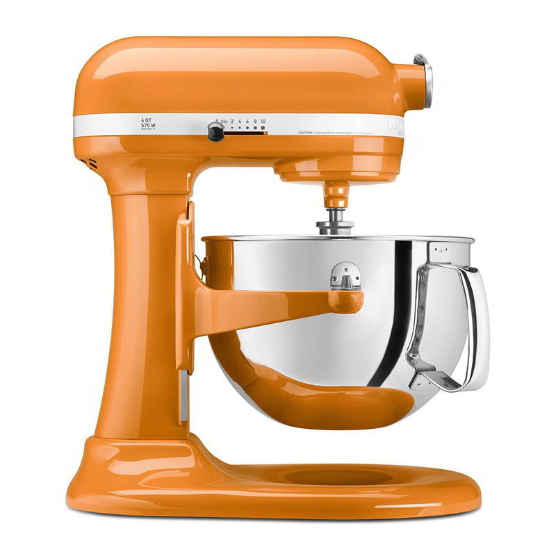 KitchenAid KP26M1XTG 10-Speed Stand Mixer w/ 6-qt Stainless Bowl & Accessories, Tangerine