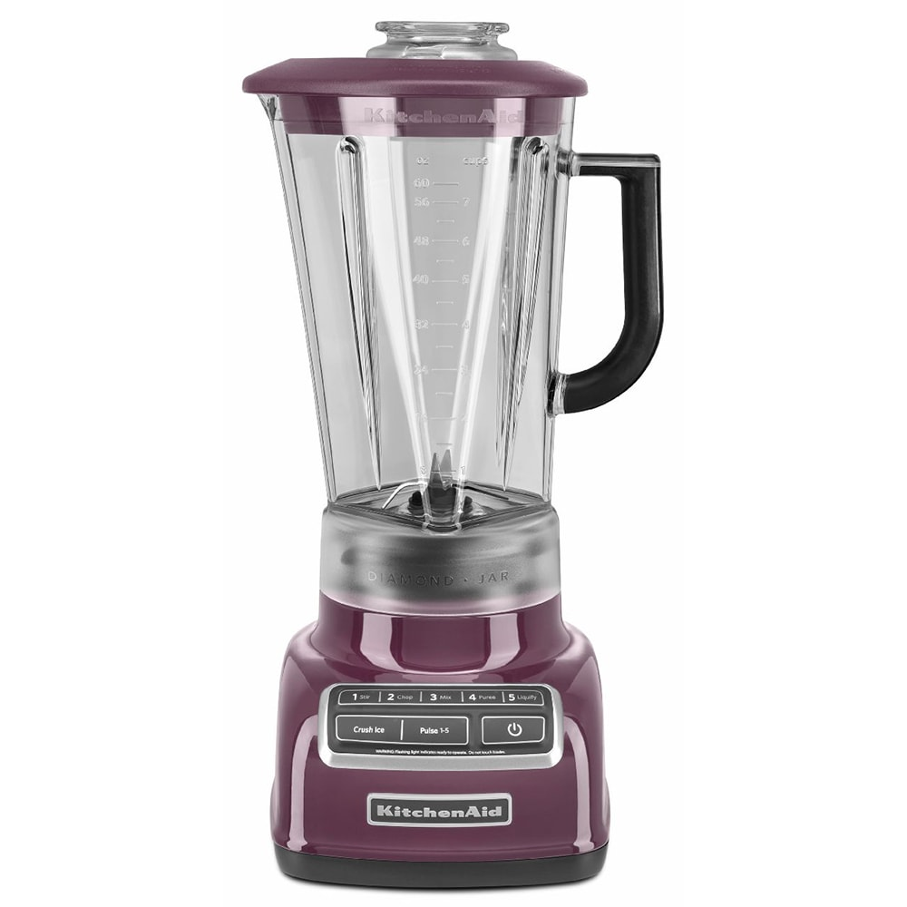 KitchenAid KSB1575BY 5-Speed Countertop Blender w/ 60-oz Pitcher, Boysenberry