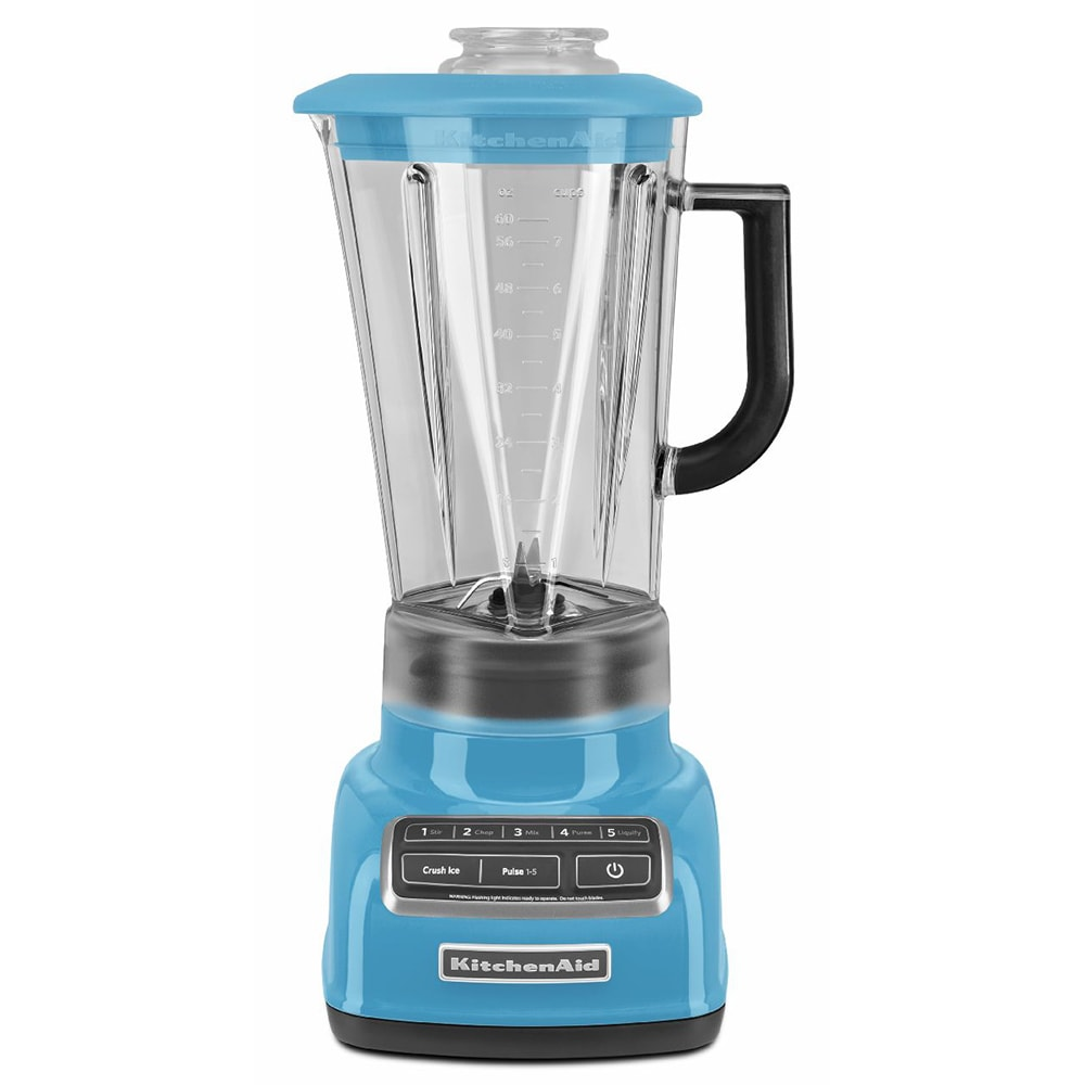 KitchenAid KSB1575CL 5 Speed Countertop Blender w/ 60 oz Pitcher, Crystal Blue