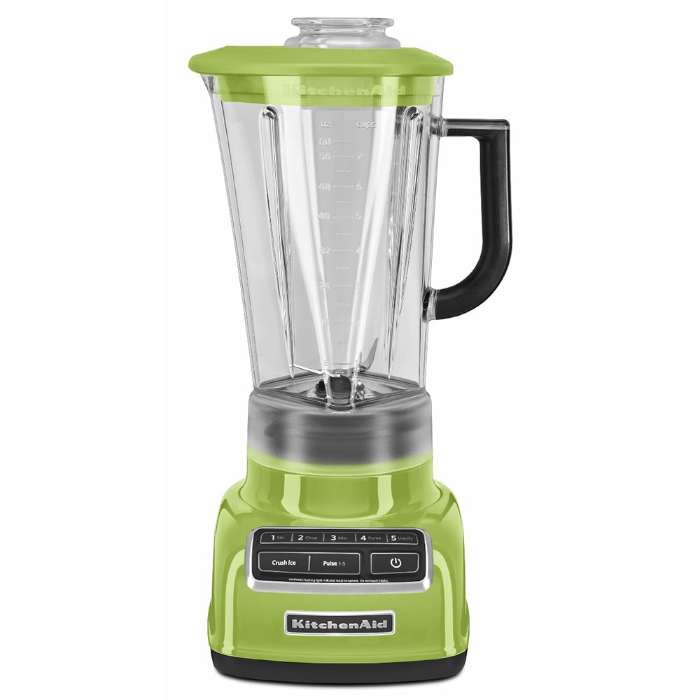 KitchenAid KSB1575GA 5-Speed Countertop Blender w/ 60-oz Pitcher, Green Apple