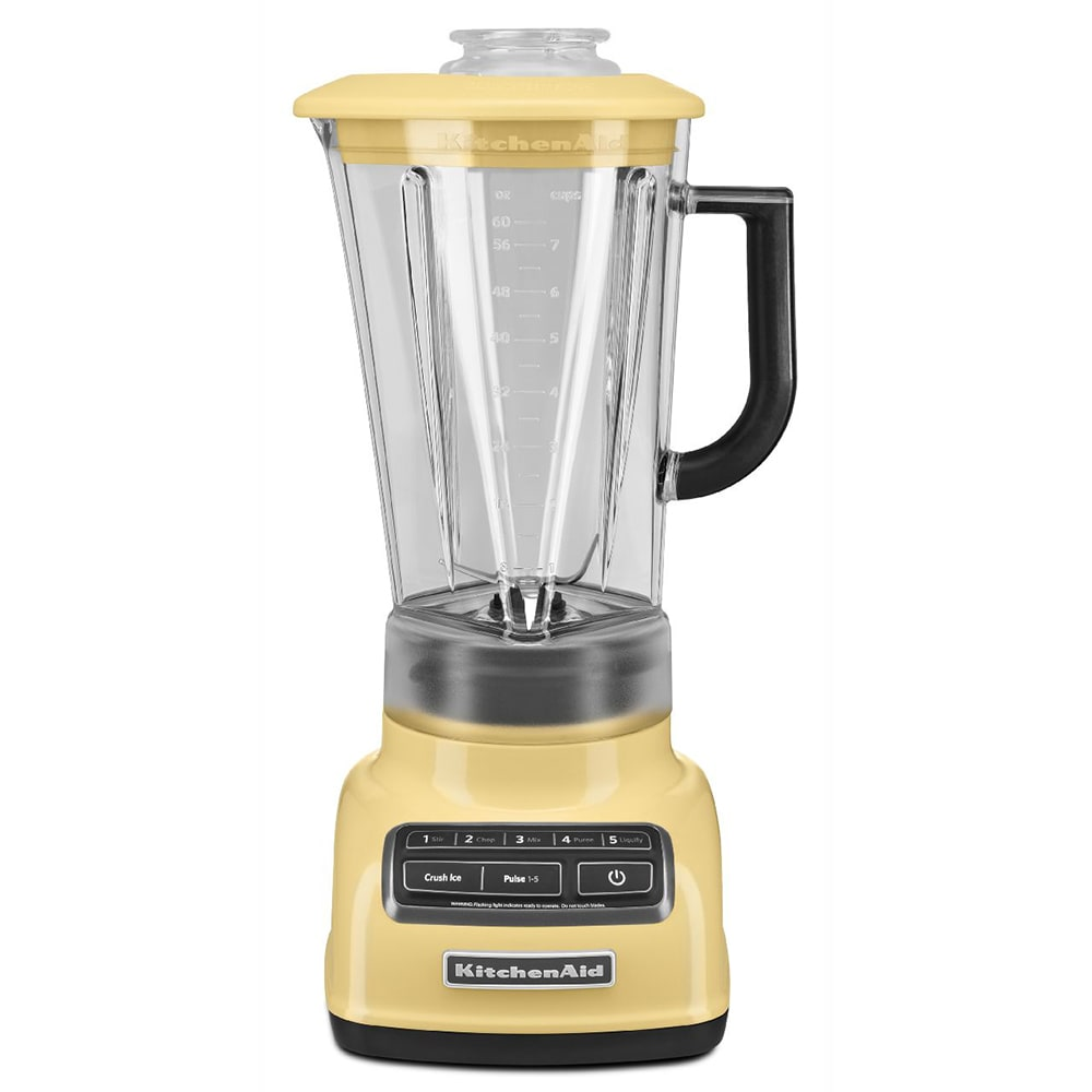 KitchenAid KSB1575MY 5 Speed Countertop Blender w/ 60 oz Pitcher, Majestic Yellow