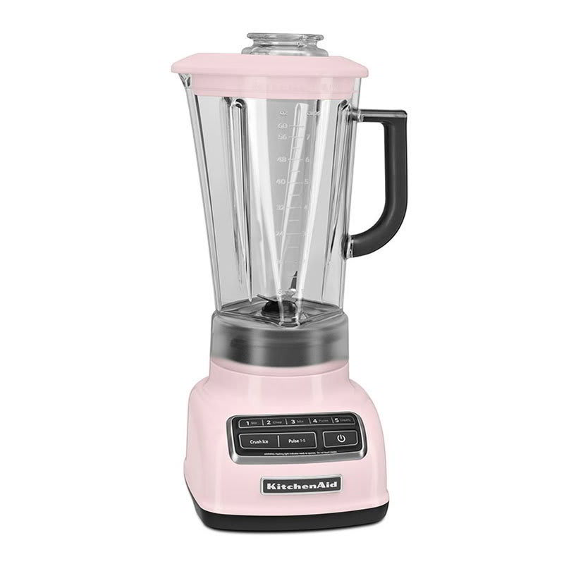 KitchenAid KSB1575PK 5-Speed Countertop Blender w/ 60-oz Pitcher, Pink