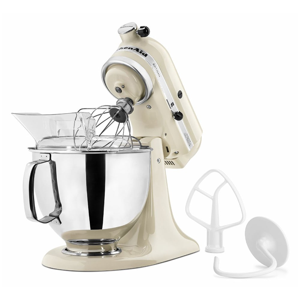 KitchenAid KSM150PSAC 10 Speed Stand Mixer w/ 5 qt Stainless Bowl & Accessories, Almond Cream