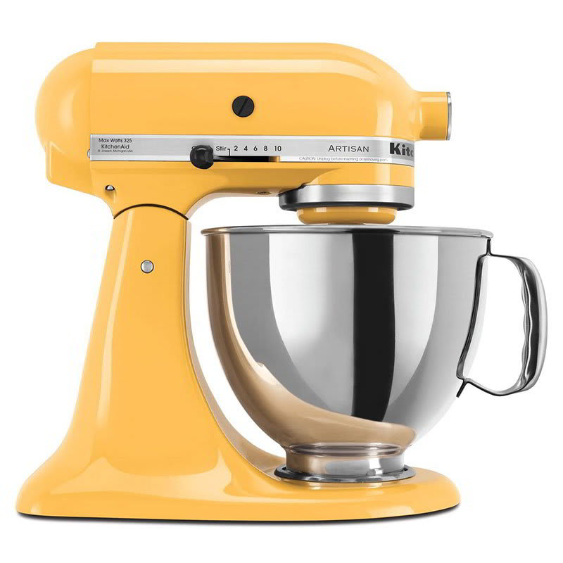 KitchenAid KSM150PSBF 10-Speed Stand Mixer w/ 5-qt Stainless Bowl & Accessories, Buttercup