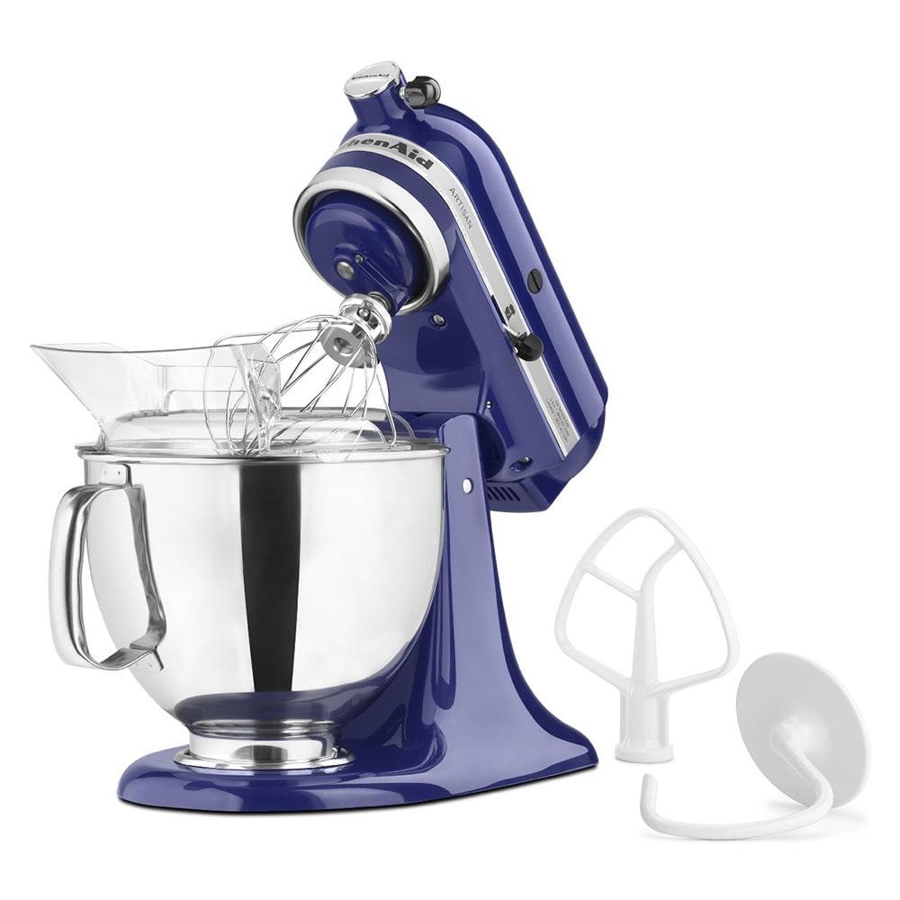 KitchenAid KSM150PSBU 10 Speed Stand Mixer w/ 5 qt Stainless Bowl & Accessories, Cobalt Blue
