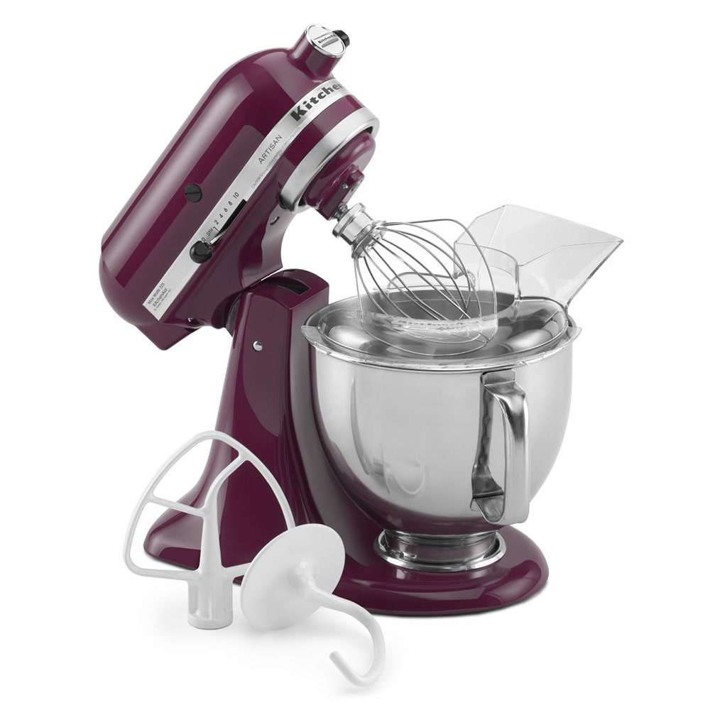 KitchenAid KSM150PSBY 10 Speed Stand Mixer w/ 5 qt Stainless Bowl & Accessories, Boysenberry