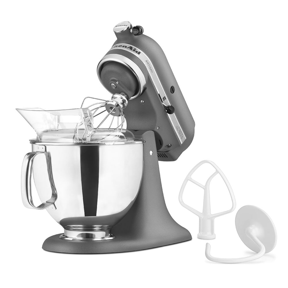 KitchenAid KSM150PSGR 10-Speed Stand Mixer w/ 5-qt Stainless Bowl & Accessories, Imperial Gray