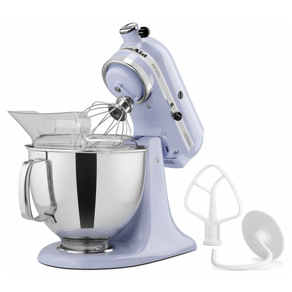 KitchenAid KSM150PSLR 10 Speed Stand Mixer w/ 5 qt Stainless Bowl & Accessories, Lavender Cream