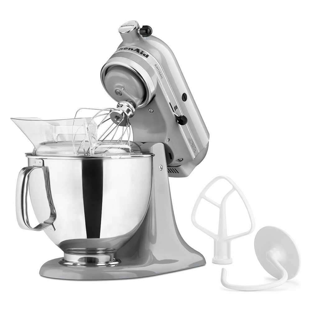 KitchenAid KSM150PSMC 10 Speed Stand Mixer W/ 5 Qt Stainless Bowl U0026  Accessories, Metallic Chrome