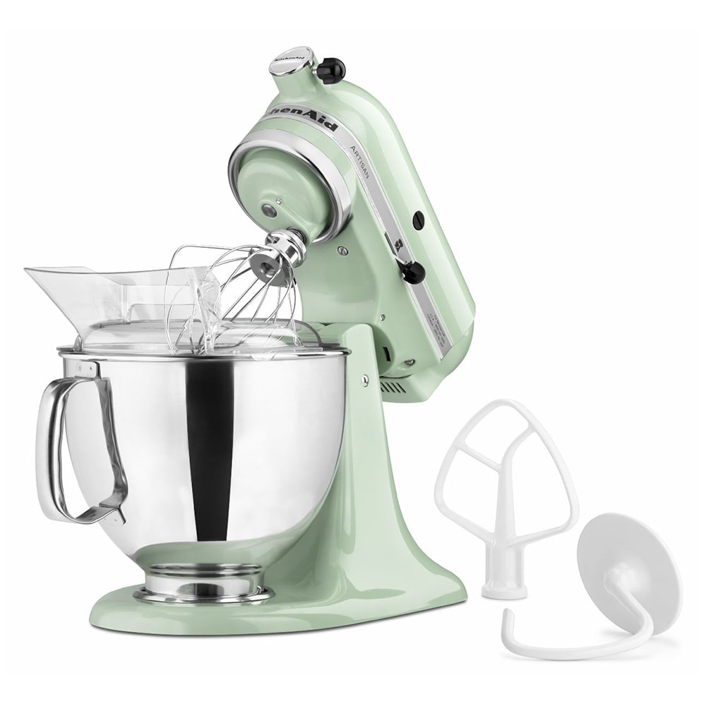 KitchenAid KSM150PSPT 10 Speed Stand Mixer w/ 5 qt Stainless Bowl & Accessories, Pistachio