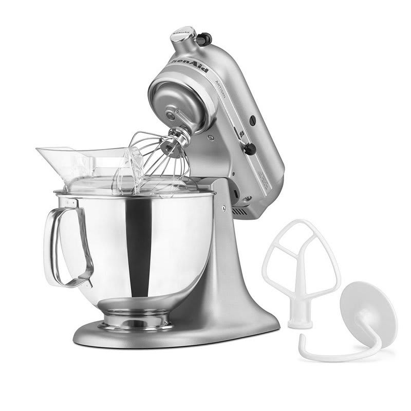 Kitchenaid Ksm150pssm 10 Sd Stand Mixer W 5 Qt Stainless Bowl Accessories Silver Metallic