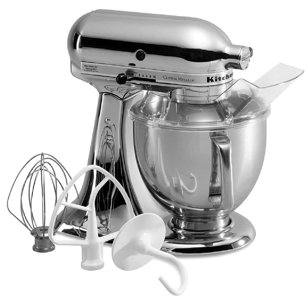 KitchenAid KSM152PSCR 10 Speed Stand Mixer w/ 5 qt Stainless Bowl & Accessories, Chrome