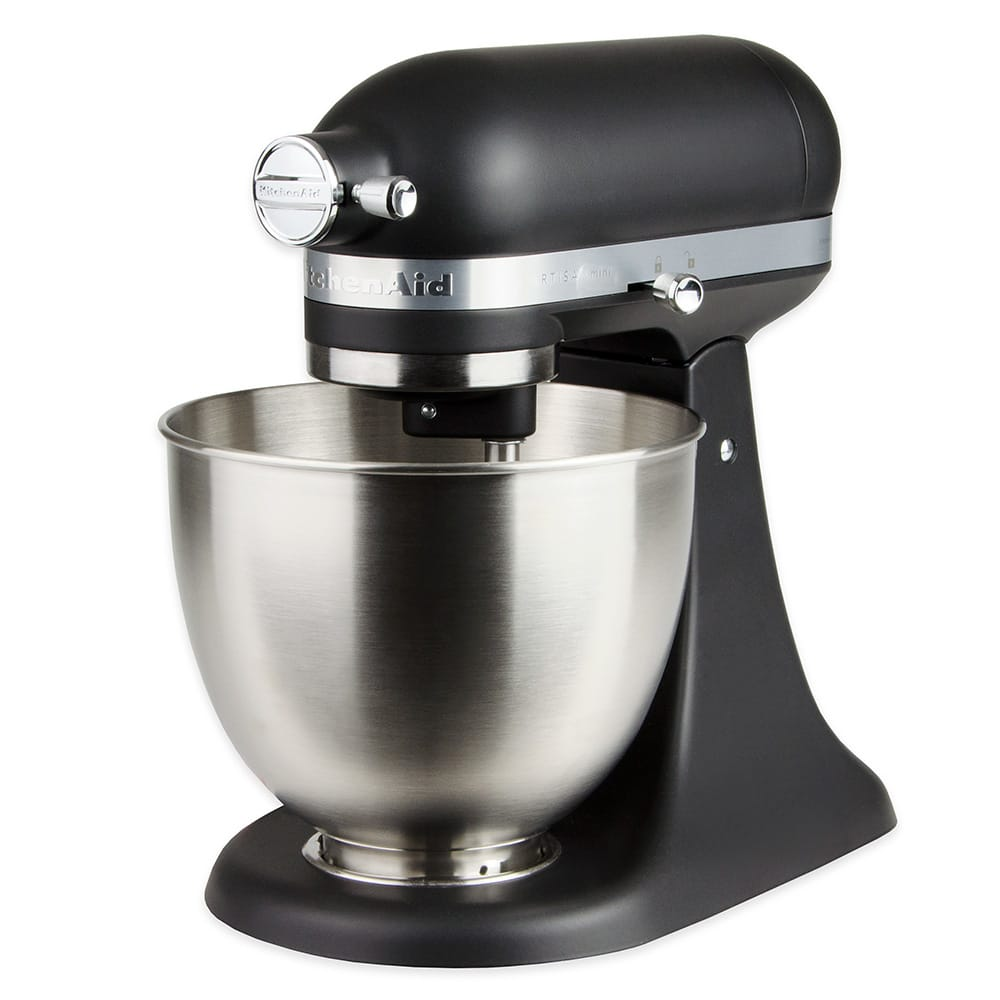 KitchenAid KSM3311XBM 10 Speed Stand Mixer w/ 3.5 qt Stainless Bowl & Accessories, Black Matte