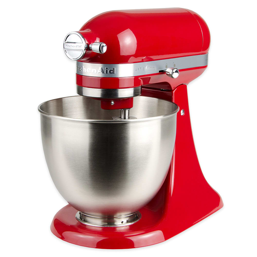 KitchenAid KSM3311XER 10-Speed Stand Mixer w/ 3.5-qt Stainless Bowl & Accessories, Empire Red