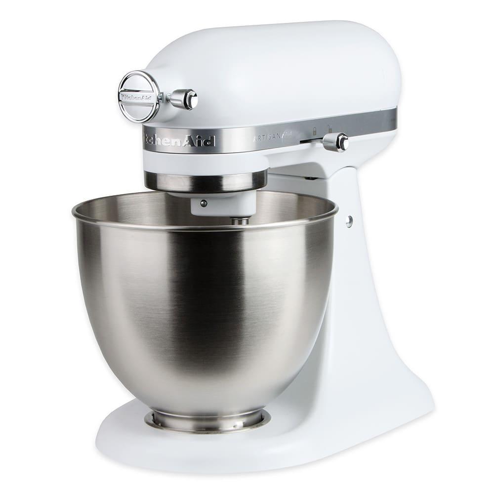 Kitchenaid Ksm3311xfw 10 Speed Stand Mixer W 3 5 Qt Stainless Bowl Accessories Matte White