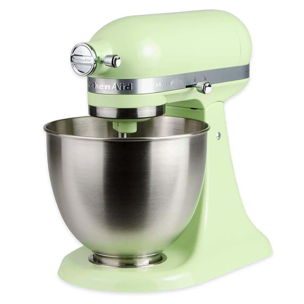 KitchenAid KSM3311XHW 10 Speed Stand Mixer w/ 3.5 qt Stainless Bowl & Accessories, Honeydew