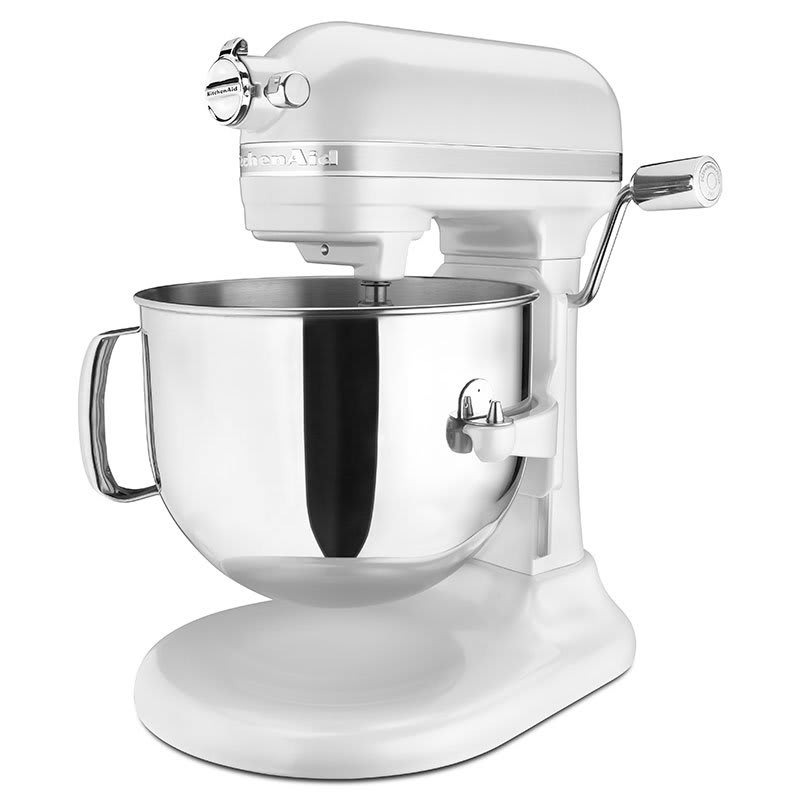 KitchenAid KSM7586PFP 10 Speed Stand Mixer w/ 7 qt Stainless Bowl & Accessories, Frosted Pearl White