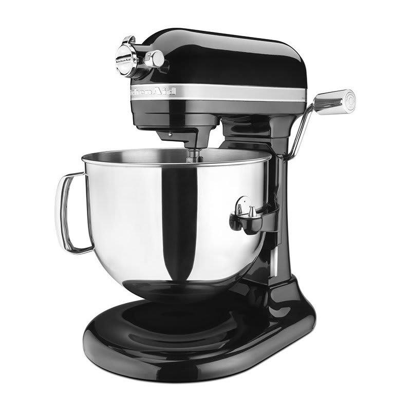 KitchenAid KSM7586POB 10 Speed Stand Mixer w/ 7 qt Stainless Bowl & Accessories, Onyx Black