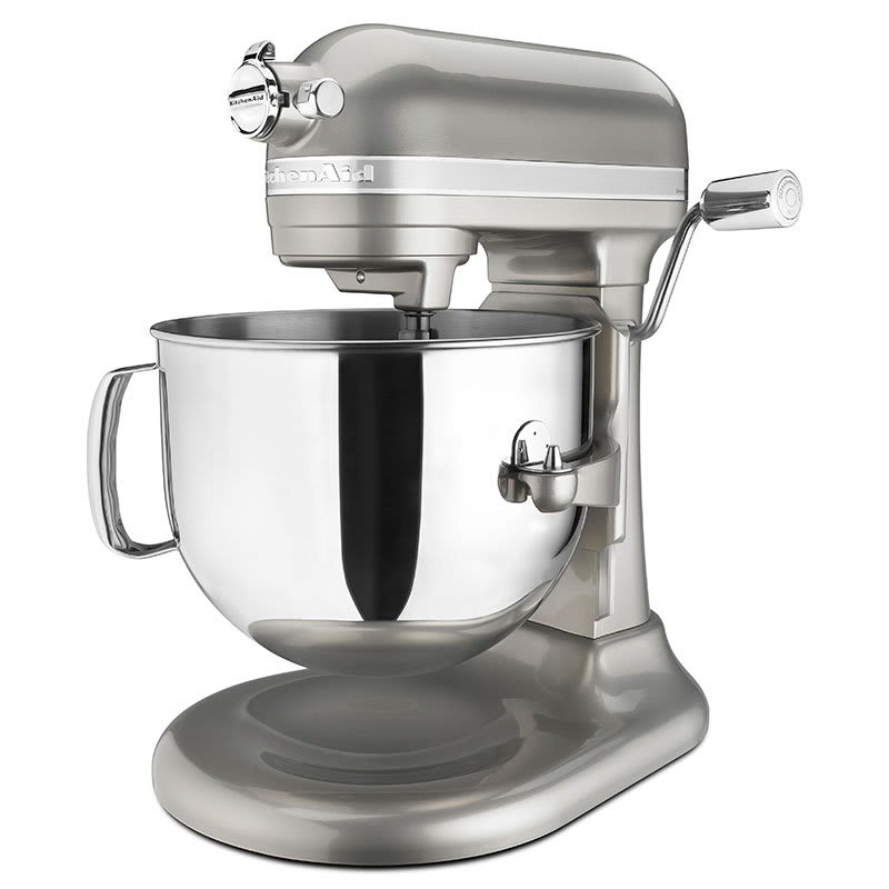 Kitchenaid Ksm7586psr 10 Sd Stand Mixer W 7 Qt Stainless Bowl Accessories Sugar Pearl Silver