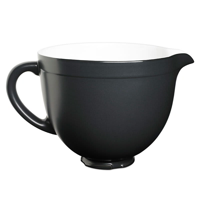 KitchenAid KSMCB5BM Ceramic Mixing Bowl for 5-qt KitchenAid Stand Mixers, Black Matte