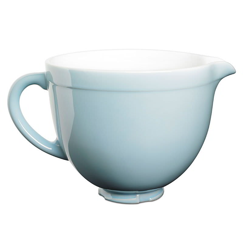 KitchenAid KSMCB5GB Ceramic Mixing Bowl for 5 qt KitchenAid Stand Mixers, Glacier Blue