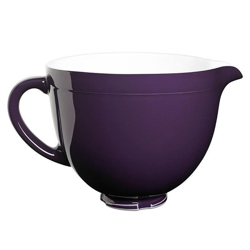 KitchenAid KSMCB5RP Ceramic Mixing Bowl for 5 qt KitchenAid Stand Mixers, Royal Purple