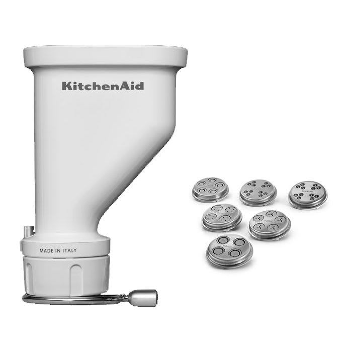KitchenAid KSMPEXTA Gourmet Pasta Press Attachment, White