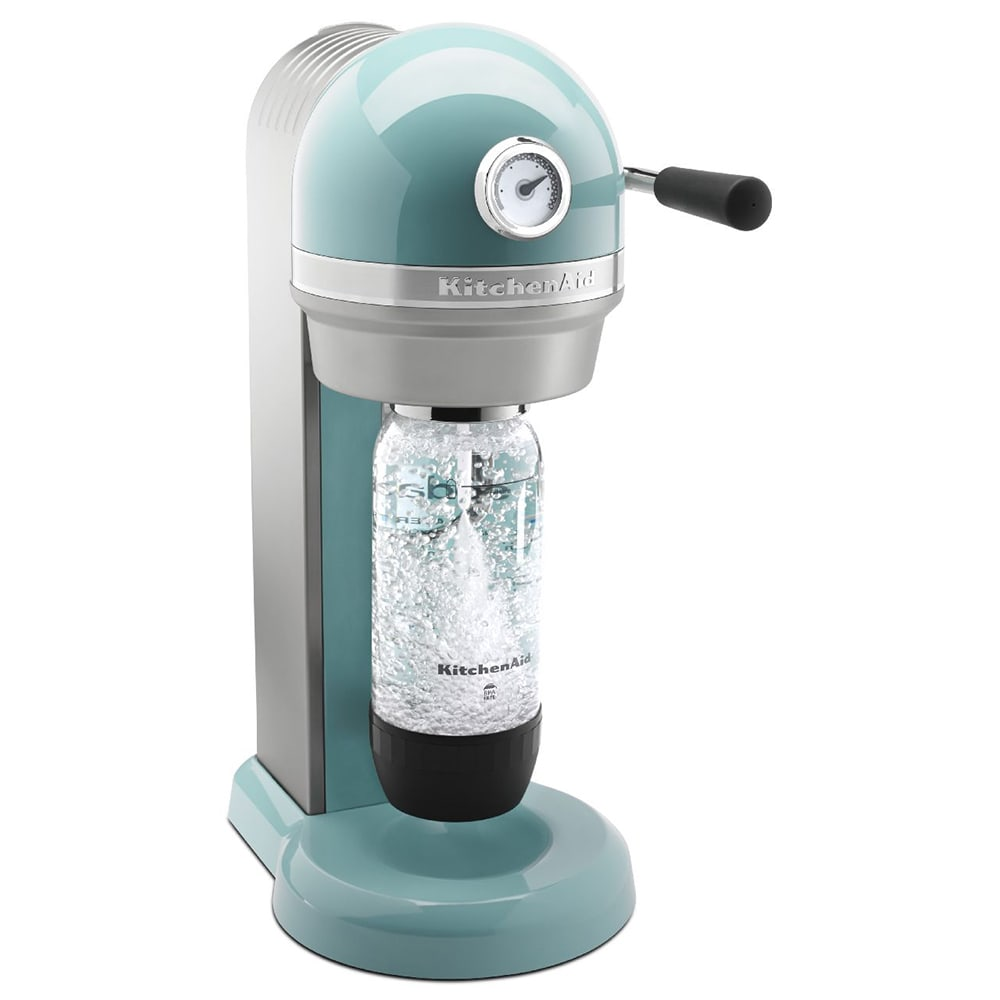 KitchenAid KSS1121AQ Sparkling Beverage Maker powered by SodaStream on rachael ray products, ge products, toastmaster products, general electric products, corian products, wolf products, whirlpool products, braun products, global products, imperial products, marvel products, sears products, norpro products, kirkland products, lynx products, creative bath products, subzero products, tassimo products, hitachi products, jcpenney products,