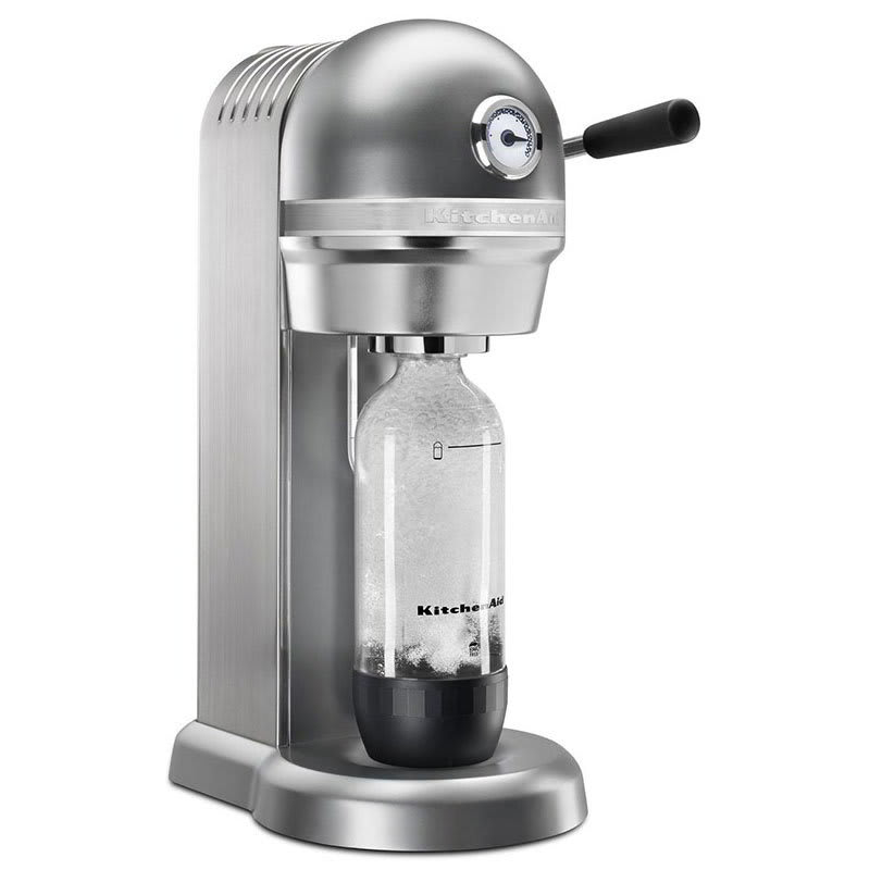 KitchenAid KSS1121CU Sparkling Beverage Maker powered by SodaStream®, Contour Silver