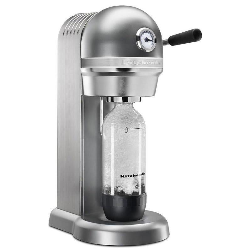 KitchenAid KSS3121CU Sparkling Beverage Maker powered by SodaStream® w/ Starter Pack, Silver