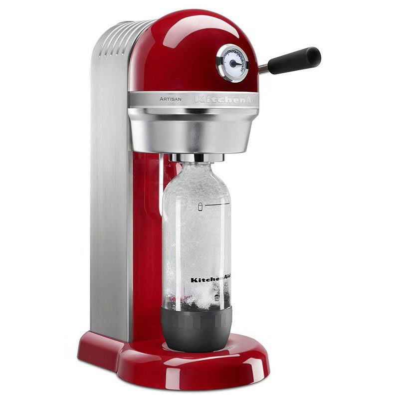 KitchenAid KSS3121ER Sparkling Beverage Maker powered by SodaStream® w/ Starter Pack, Empire Red