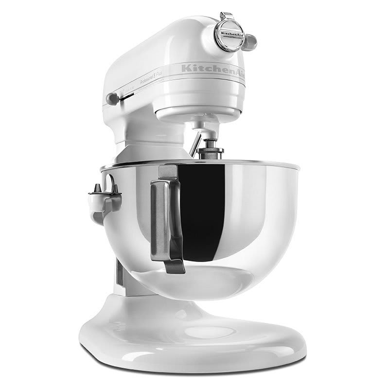 KitchenAid KV25GOXWW Professional 5 Plus Series 5 Quart Stand Mixer, White on White