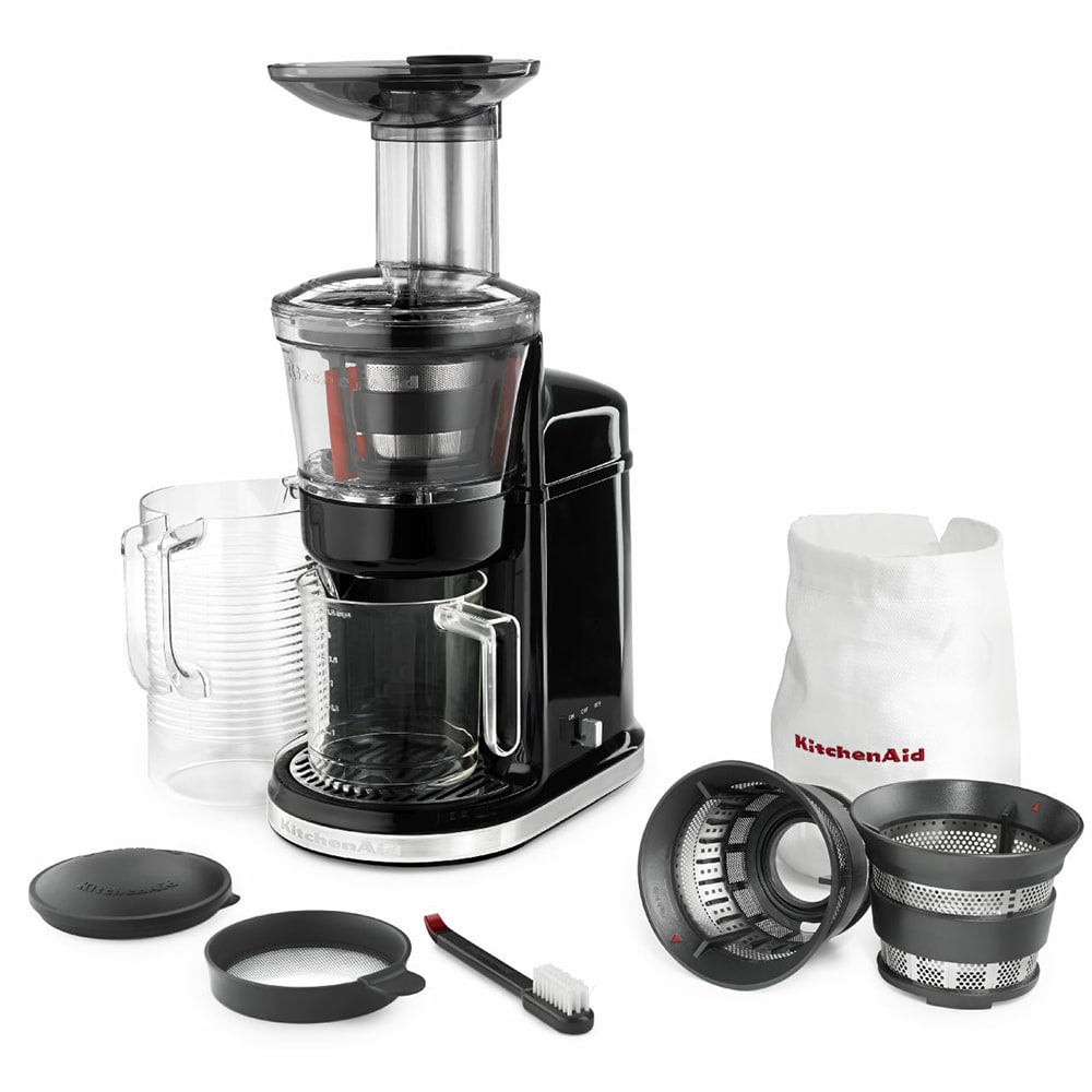 KitchenAid KVJ0111OB Maximum Extraction Juicer w/ 2 Stage Blade, Onyx Black