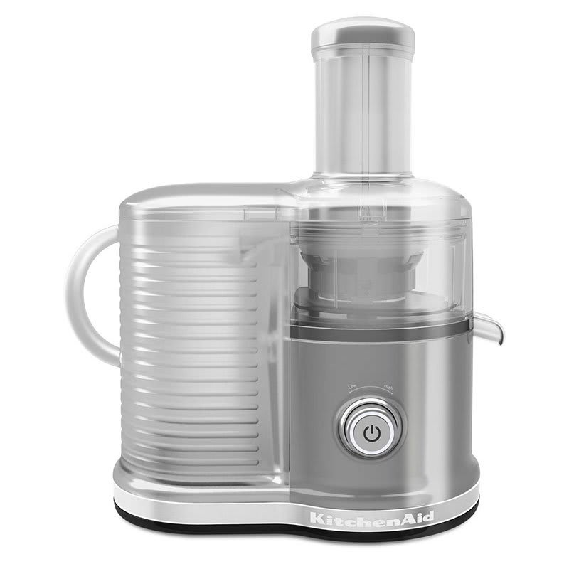 KitchenAid KVJ0333CU Easy Clean Juicer w/ BPA-Free Juice Pitcher, Contour Silver
