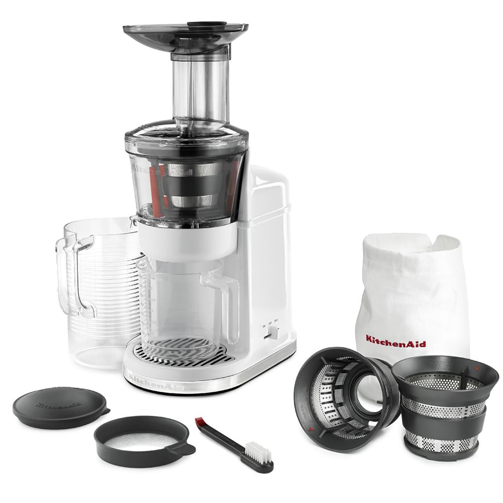 Kitchenaid Maximum Extraction Slow Juicer : KitchenAid KvJ0111WH Maximum Extraction Juicer w/ 2-Stage ...