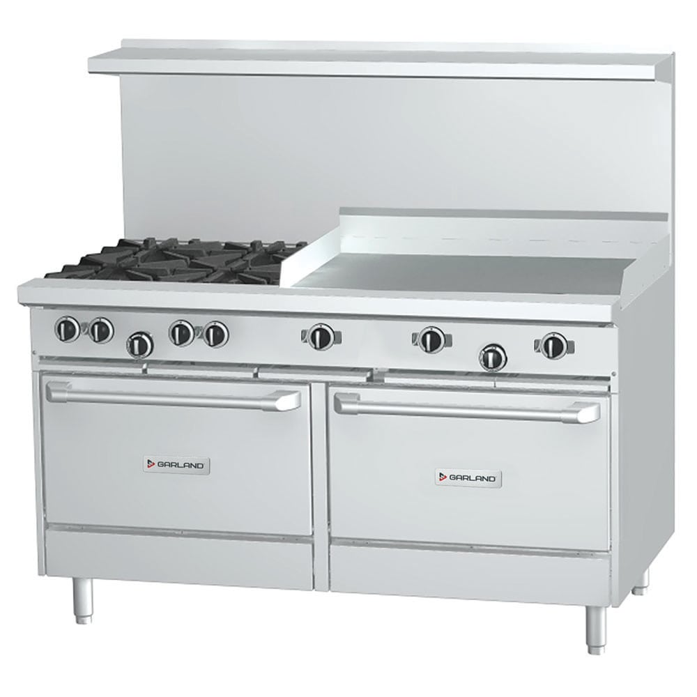 "Garland G60-4G36RR 60"" 4-Burner Gas Range with Griddle, NG"