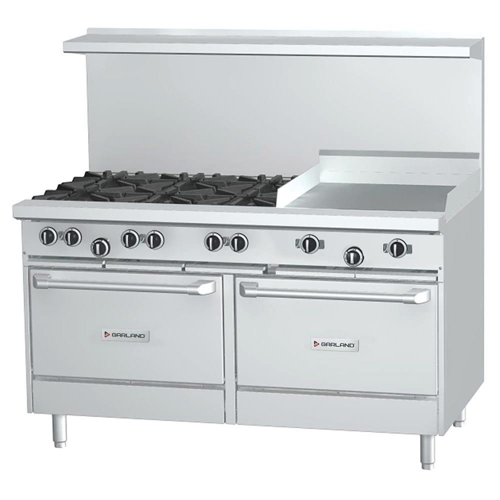 "Garland G60-6G24RR 60"" 6-Burner Gas Range with Griddle, LP"