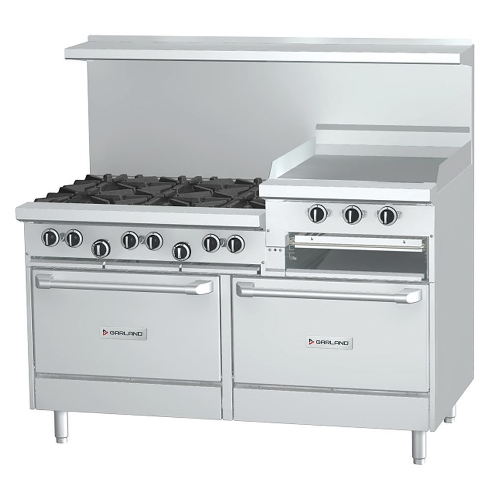 "Garland G60-6R24RR 60"" 6-Burner Gas Range with Griddle & Broiler, NG"