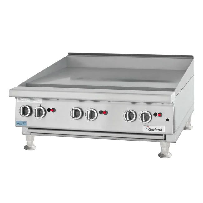 "Garland GTGG36-GT36M 35.87"" Gas Griddle - Thermostatic, 1"" Steel Plate, LP"