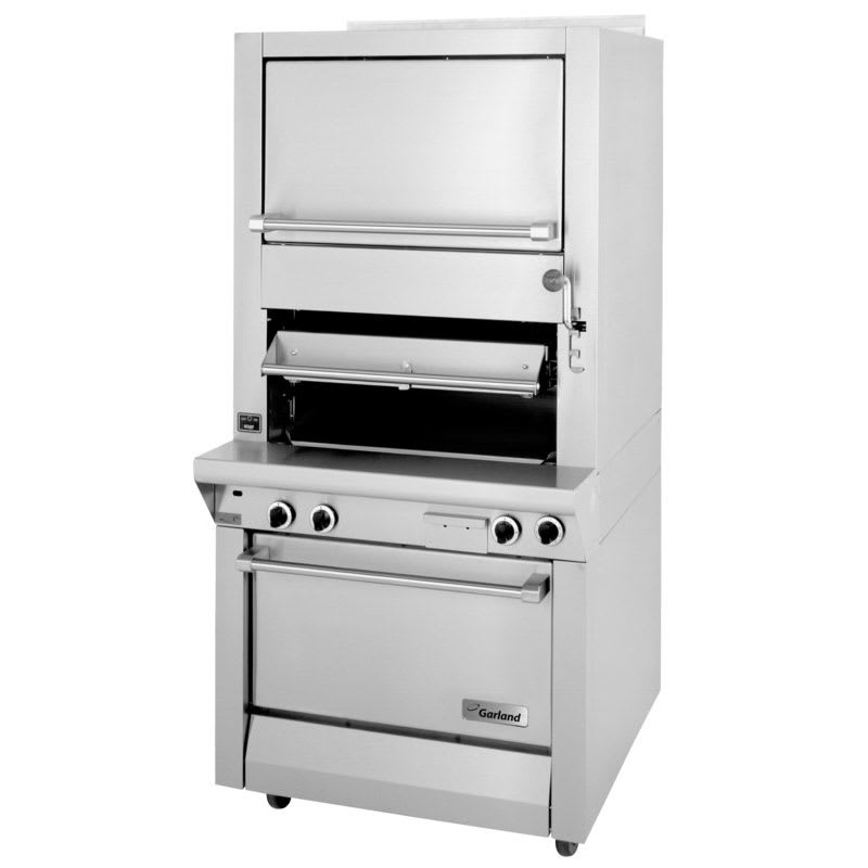 Garland M100XRM Deck Type Broiler w/ Finishing Oven & Standard Oven Base, NG