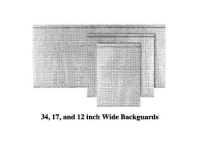 "Garland M12BG Master Series Backguard/Flue Riser, 17""H x 12""W, Stainless"