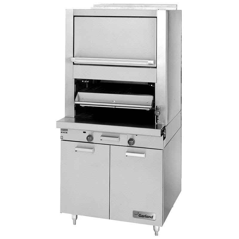 Garland M60XR Deck Type Broiler w/ Upper Finishing Oven, Standard Oven, LP