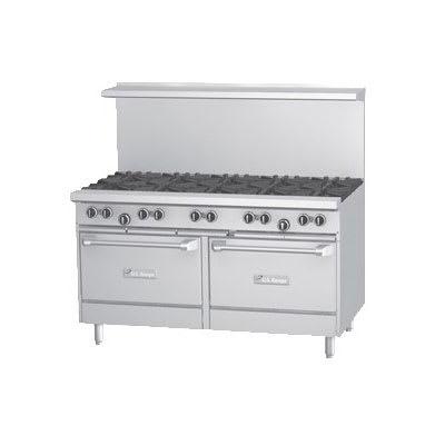 """Garland U60-6G24RR 60"""" 6-Burner Gas Range w/ (2) Standard Ovens, NG"""