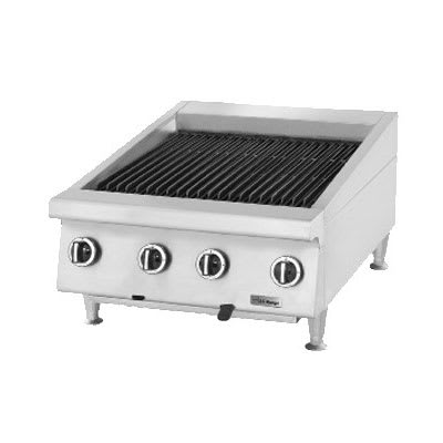 "Garland UTBG24-NR24 24"" Countertop Charbroiler w/ Cast Iron Grates - Manual Controls, NG"
