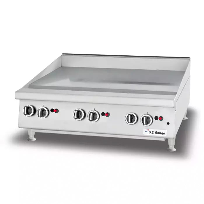 """Garland UTGG36-GT36M 35.43"""" Gas Griddle - Thermostatic, 1"""" Steel Plate, NG"""