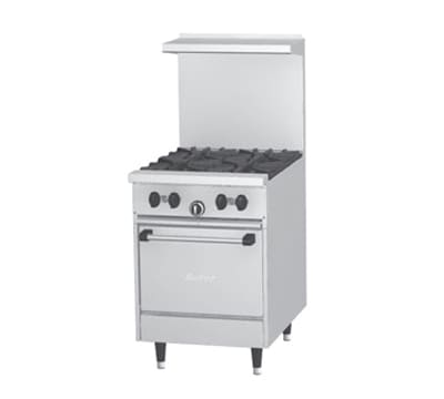 "Garland X24-4L 24"" SunFire 4 Burner Gas Range, NG"
